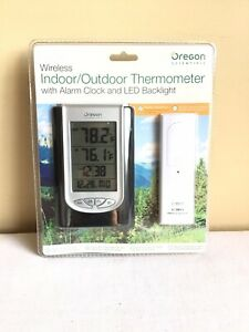 New Sealed Oregon Scientific Wireless Indoor Outdoor Thermometer Alarm Clock