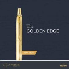 Parker JOTTER LONDON GOLD Ball Point Pen Stainless Steel Body, Blue Ink, New
