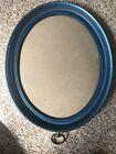 Blue Circular Wooden Frame
