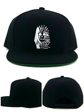 Last Kings New Death Face Logo Pharoah King Tut Black White Era Snapback Hat Cap