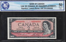 1954 $2 Canadian Replacement Note