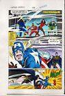 1984 Captain America 296 page 21 original Marvel colorists color guide comic art