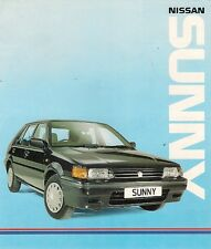 Nissan Sunny Hatchback Coupe Estate 1990 UK Market Foldout Brochure LS GS GSX ZX