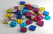 VTG 40 Piece Lot Plastic Metal Assorted Colors  Shapes Raw Stock Jewelry Crafts