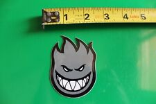 Spitfire Skateboard Wheels Grey Flame Head Logo Vintage Surfing
