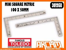 TOLEDO 301958 - MINI SQUARE METRIC - 100 X 50MM - DOUBLE SIDED STAINLESS STEEL