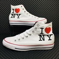 Converse Chuck Taylor High Top (Men's Size 9) New York Sneakers White