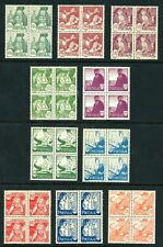 Portugal 605-614 Nh Blocks Of 4 Costumes 2019 Cat $900 Excellent Set