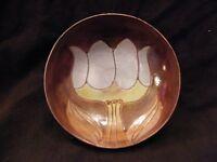 Coupelle en Céramique Signée Cloutier Décor de Tulipe era Jouve Capron