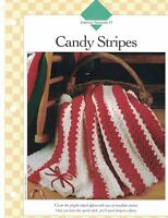 Candy Stripes Afghan Crochet Single Pattern Vanna White Rows of Snowflake Stitch