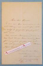 L.A.S J Ferdinand JACQUEMART Graveur illustrateur à VERNIER - BRACQUEMOND lettre