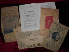 8 anciennes Partitions + 1 livret de chant lot N° 9