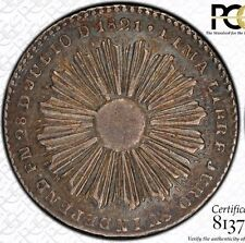FINEST @ NGC & PCGS XF45 1851 PERU PROCLAMATION MEDAL 2 REALES SUN FACE TONED