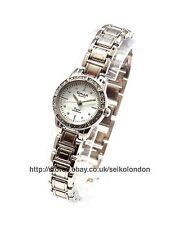 Omax Ladies Diamonte White Dial Watch, Silver Finish, Seiko Movt. RRP £49.99