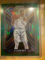 2020-21 Panini Prizm Tyler Bey RC Green Prizm Dallas Mavericks #251