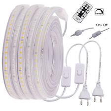220V 230V Dimmbar 2835 LED Stripe Streifen Wasserdichte Lichtschlauch Lichtband
