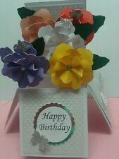 Beautiful handmade flower pop up card use for birthday/ mothers day