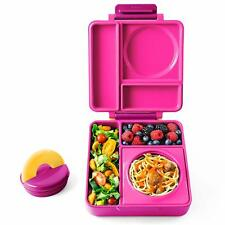 Omie Life OmieBox Insulated Hot And Cold Bento Box Lunch Containers Pink Berry