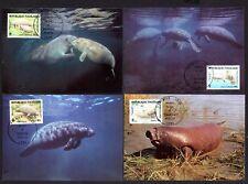 Togo 1763/6 Maximumkarten Afrikanischer Manati Weltweiter Naturschutz