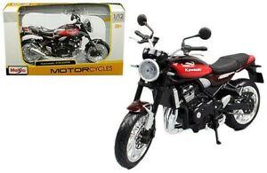 1/12 Scale Kawasaki Z900RS Red Diecast Metal Maisto - New in Window Box