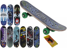 "Retro SKATEBOARD 17 x 5"" Wooden in Assorted Cool Designs"