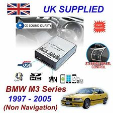 For BMW M3 MP3 SD USB CD AUX Input Audio Adapter Digital CD Changer Module 3+6PN