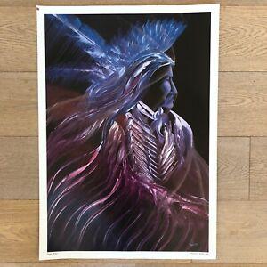 "Vintage 1992 William E Rabbit Print - ""Night Wind"" 24.5"" x 17.25"""