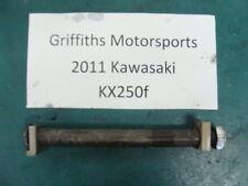 11 2011 12 04-14 Kawasaki kx250f kx 450f rear axle bolt shaft chain blocks oem