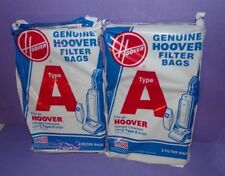 NEW Nos Genuine HOOVER Type A Upright Vacuum Cleaner Bags 2 Packs 3 Bags Ea= 6