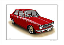 TOYOTA  KE10  COROLLA  2 DOOR     LIMITED EDITION CAR PRINT AUTOMOTIVE ARTWORK
