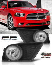 2011-2014 DODGE CHARGER FRONT BUMPER FOG LIGHTS LAMPS KIT+WIRING+SWITCH+PAIR
