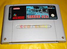 CARRIER ACES Super Nintendo SNES Versione Europea PAL ○ SOLO CARTUCCIA - A6