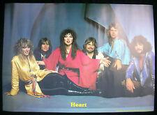HEART Ann & Nancy Wilson Personality 1978 Belgium Mint- Original POSTER RARE!!!