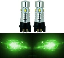 LED 30W 12177 PW16W Green Two Bulbs Back Up Reverse Light Audi BMW Show Use