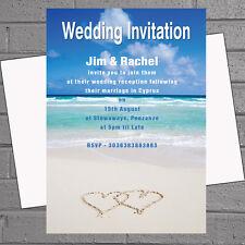 WHITE Sand Beach MATRIMONIO all' estero sera giorno Ricezione Inviti x12 con envs