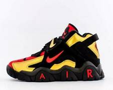 NEW!!  NIKE AIR BARRAGE MID  METALLIC GOLD / UNIVERSITY RED   SIZE 10