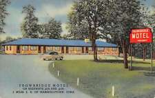 Marshalltown Iowa Trowbridge Motel Linen Antique Postcard K41866