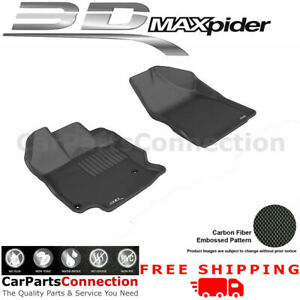 All Weather Floor Mats L1TY13411509 For Toyota Venza 13-15 KAGU Black Maxpider