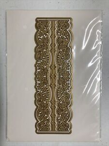 """Anna Griffin 7.5 x 2.5"""" Border Lace Frame Embossing Stencil Cutting Dies"""