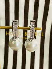 New Henri Bendel Flora Drop Earrings Silver Tone