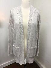 XL NWT EST 1946 CATO Oatmeal Fleck Open Chunky knit Sweater Cardigan w/Pockets
