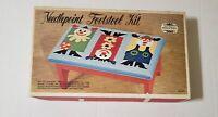 Vintage Elsa Williams Crewel Embroidery Kit Footstool  KPN 156 - 3 Cute Clowns