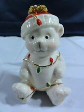 Lenox Polar Bear Cub with Christmas Lights Ornament -- Beautiful
