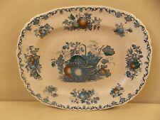 """Mason's """"Fruit Basket - Blue"""" Oval Platter 13"""" VINTAGE"""