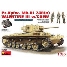 MINIART 1:35 CARRO ARMATO PZ.KPFW. MK.III 749(e) VALENTINE III W/CREW ART. 35100