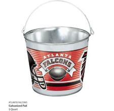 Atlanta Falcons Metal Bucket Galvanized, Nfl Football, Galvanized Tail, 5 Ltr