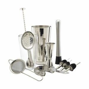 Genware 11 Piece Cocktail Bar Kit Cocktail Mixing All Essentials Kit