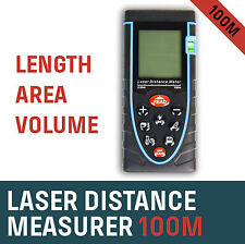 Laser Distance Measurer Meter 100m/328ft Area Volume Range Finder Accuracy ±2mm
