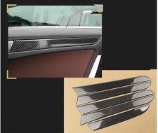 Carbon Fiber Interior Door Storage Glover Box Trim pour Audi A4 S4 A5 S LINE A01