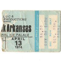 BLACK OAK ARKANSAS Concert Ticket Stub LAS VEGAS NV 4/13/74 ICE PALACE JIM DANDY
